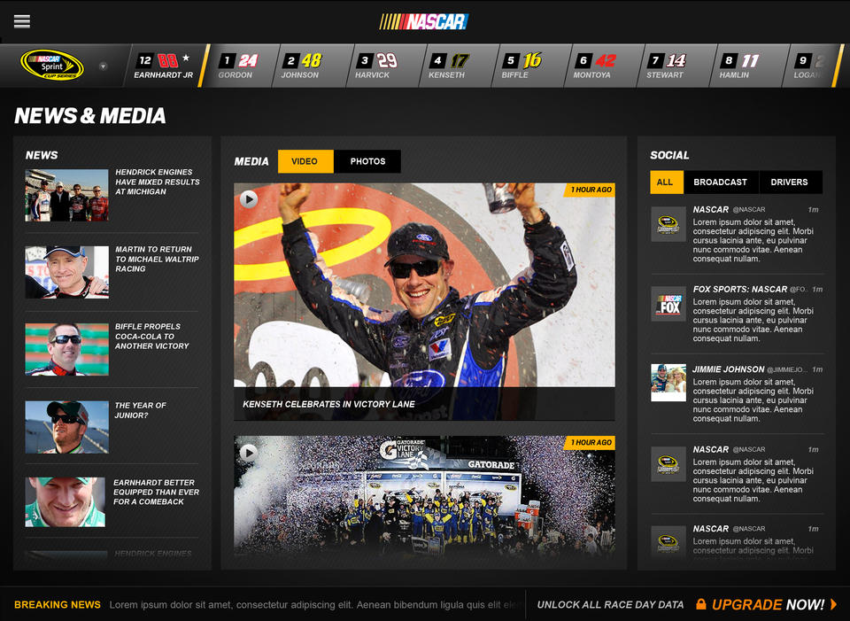 NASCAR Mobile '13 - iPhone Mobile Analytics and App Store Data