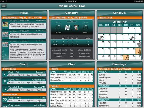 Miami Dolphins Football Live iPad Screenshot 2