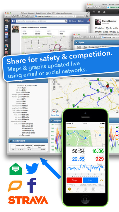 Cyclemeter GPS - Cycling Running and Mountain Biking Ride Tracking - iPhone Mobile Analytics and App Store Data