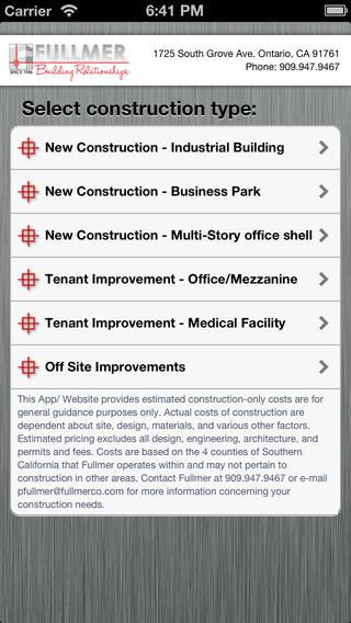 Fullmer Construction Industrial Calculator