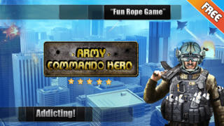 Army Commando Rope Hero - Swing and Fly Elite Soldier Escape Free