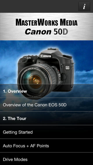 MasterWorks Media Guide for Canon EOS 50D