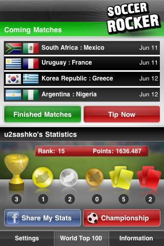 Soccer Rocker - The Ultimate Soccer World Championship App iPhone Screenshot 1