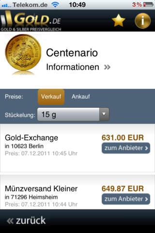Gold.de iPhone Screenshot 4