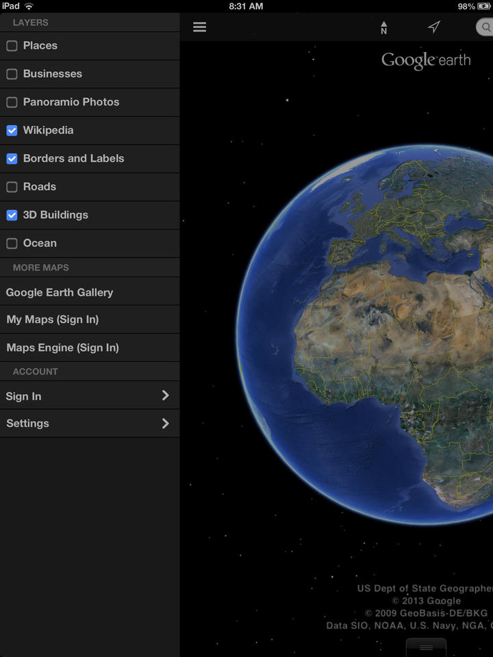 Google Earth - iPhone Mobile Analytics and App Store Data