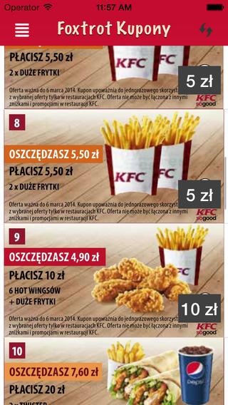 Kupony KFC - Foxtrot