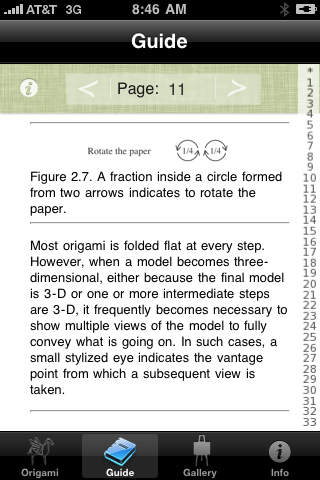 Robert Lang's Origami Lite iPhone Screenshot 5