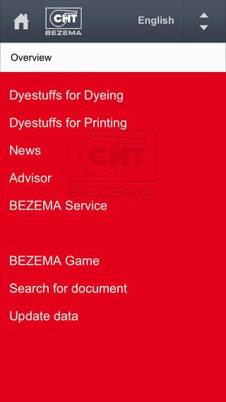 BEZEMA Dyestuff Range