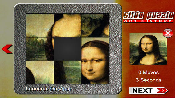 Slide Puzzle Painting Art History