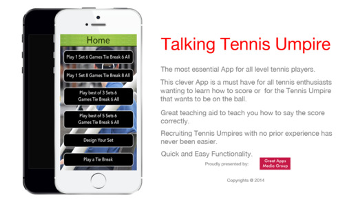 Talking Tennis Umpire