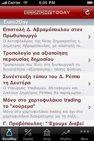 EconomyToday iPhone Screenshot 1