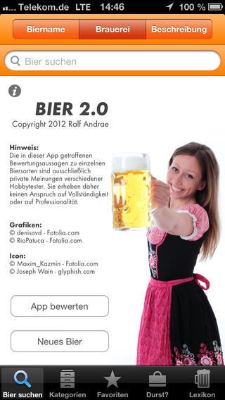 BIER iPhone Screenshot 1