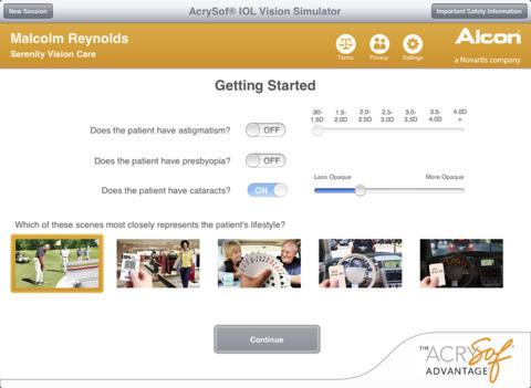 AcrySof IOL Vision Simulator US