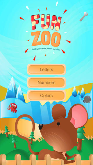 Fun Zoo - Match and Learn Letters Numbers and Colors.