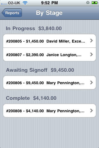 Sales Order Manager iPhone Screenshot 2