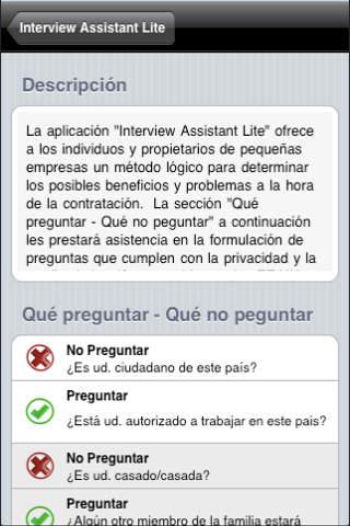Interview Assistant Lite Español