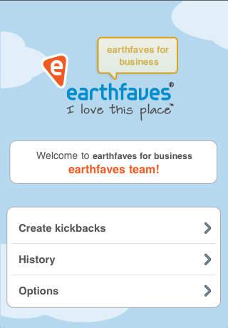 earthfaves for Business - Kickbacks App