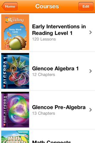 McGraw-Hill K-12 eFlashcards iPhone Screenshot 2
