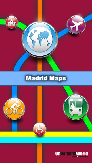 马德里 西班牙 地图 - 下载地铁线路图 城市地图和旅游指南