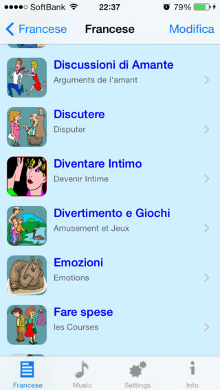 Frasi Quotidiane in Francese - Talking Italian to French Phrase Book - Abelia iPhone Screenshot 3