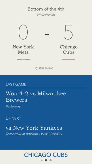 Scored - Chicago Cubs Edition - Scores and Alerts
