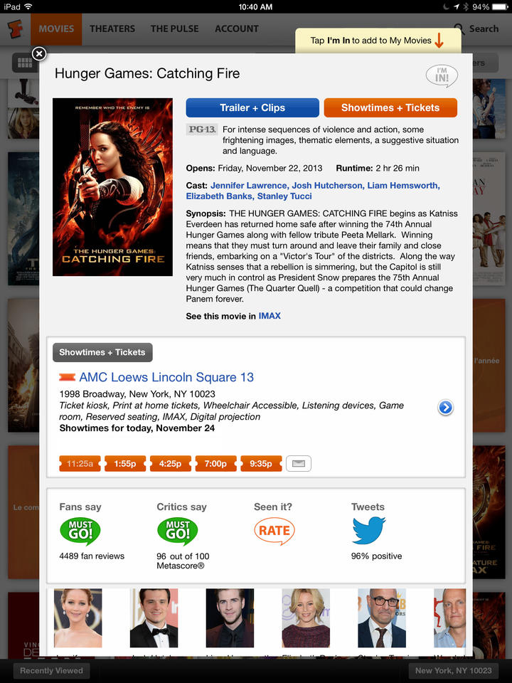 Fandango Movies – Times & Tickets - iPhone Mobile Analytics and App Store Data
