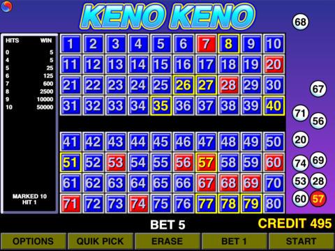 free 4 card keno games no download