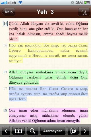 Azərbaycan dilində Bibliya