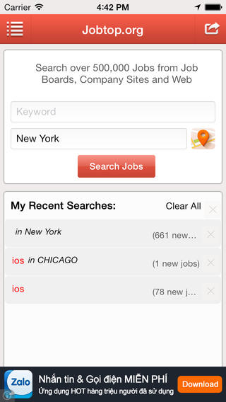 Jobs Search - Seek your Amercican dream job