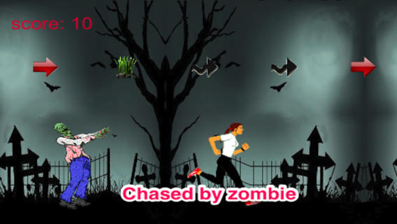 Girl vs Zombie: Running And Chasing