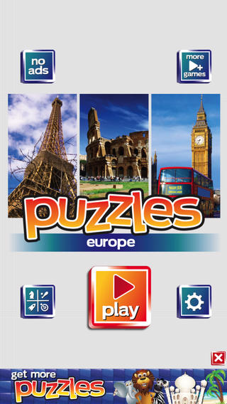 Europe Puzzles - See France Paris Italy Greece Germany Russia and London England