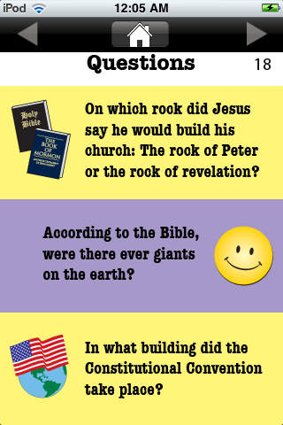 LDS Trivia Intellectual Fun iPhone Screenshot 3