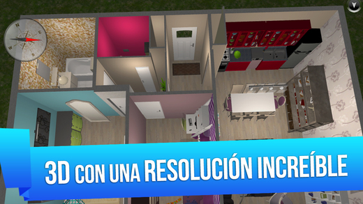 Home design 3d free para iphone ipod touch y ipad en el for Programa para crear casas en 3d