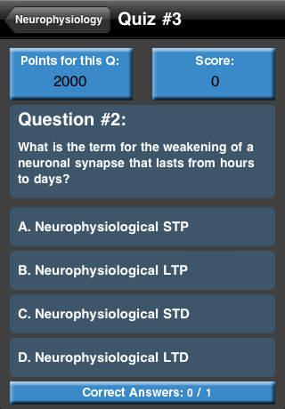Neurophysiology Quiz