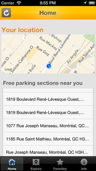 Free Parking Montreal
