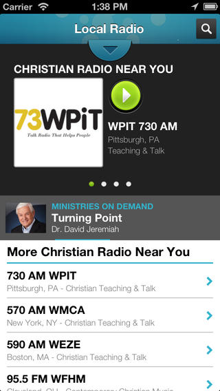Christian Radio  iPhone Screenshot 1