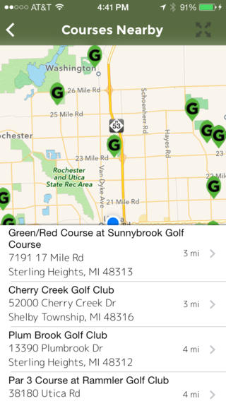 Golf Course Directory USA iPhone Screenshot 4
