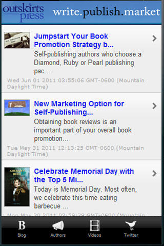 Outskirts Press Free Publishing App