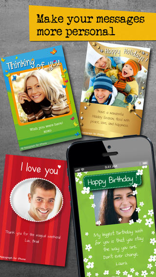 Appygraph eCards - Send personalized Birthday Greeting Love photo cards by text message WhatsApp Fac