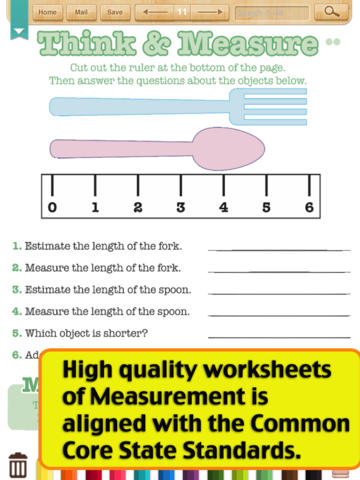 Kids Math-Measurement Worksheets(Grade 2) on the App Store