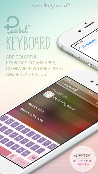 Pastel Keyboard Themes Extension - 100+ Cute Colorful Keyboard Skins Design