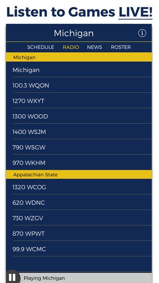 Michigan Football Radio Live Scores