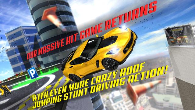 Roof Jumping Parking Simulator 2: Real Car Racing Stunt Driving Test Sim Run Race Games