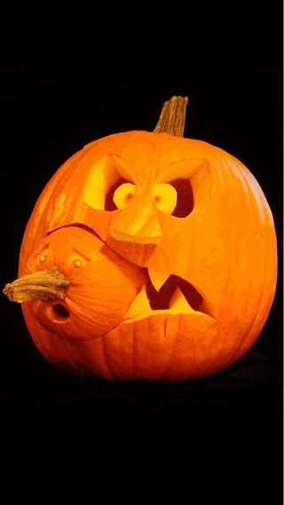 Halloween pumpkin carving patterns ideas to make zombie