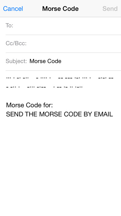 Morse Code iPhone Screenshot 5