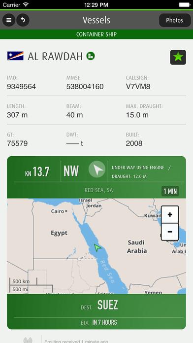 Fleetmon :mobile Vesseltracking and Shipfinder iPhone Screenshot 3