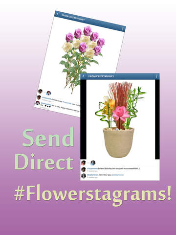 Insta Flower Cards by Shakesperry - Send Flowers Ecard Greetings Free; share on Instagram,Twitter,Facebook,email screenshot