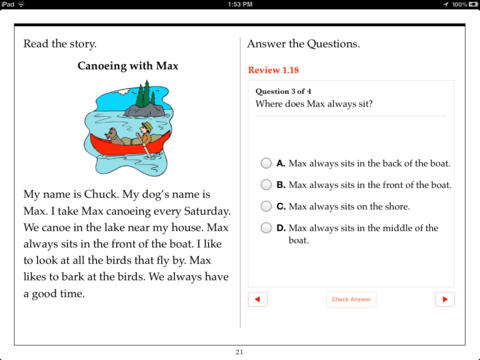 Printables Reading Comprehension First Grade first grade reading comprehension by aaron levy on ibooks screenshot 4