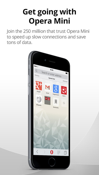 iOS Apps: Opera Mini web browser
