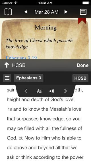 Spurgeon Devotional iPhone Screenshot 2